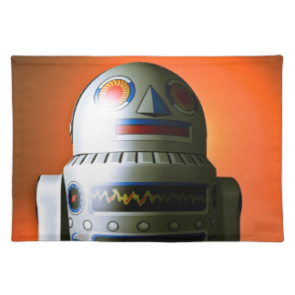 Retro Cropped Toy Robot 02 American MoJo Placemats