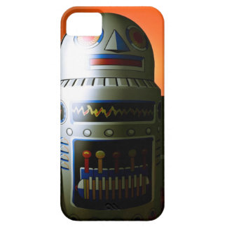 Retro Cropped Toy Robot 02 iPhone SE/5/5s Case