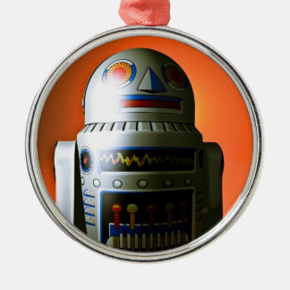 Retro Cropped Toy Robot 02 Ornament