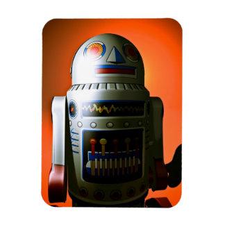 Retro Cropped Toy Robot 02 Premium Flexi Magnet