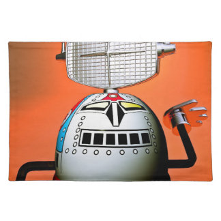 Retro Cropped Toy Robot 03 American MoJo Placemats