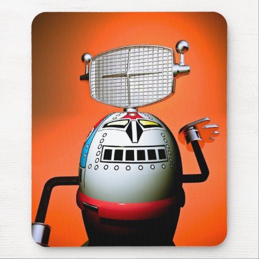 Retro Cropped Toy Robot 03 Mousepad
