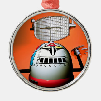 Retro Cropped Toy Robot 03 Ornament