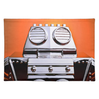 Retro Cropped Toy Robot 04 American MoJo Placemats