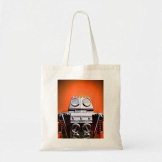 Retro Cropped Toy Robot 04 Bag