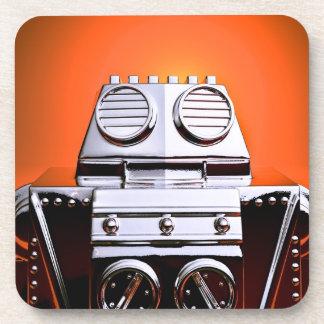 Retro Cropped Toy Robot 04 Cork Coaster