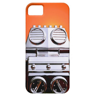 Retro Cropped Toy Robot 04 iPhone SE/5/5s Case