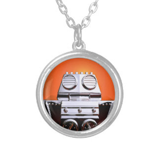 Retro Cropped Toy Robot 04 Necklace