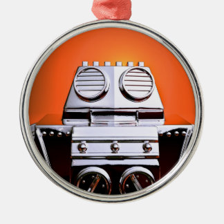 Retro Cropped Toy Robot 04 Ornament