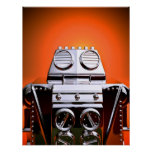Retro Cropped Toy Robot 04 Poster