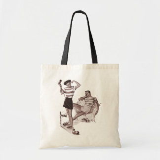 Retro Croquet Game Tote Bag
