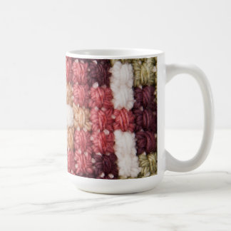 Retro cross stitches mug