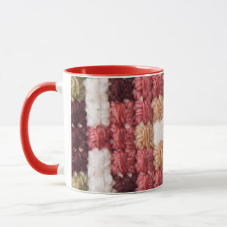 Retro cross stitches Ringer Mug