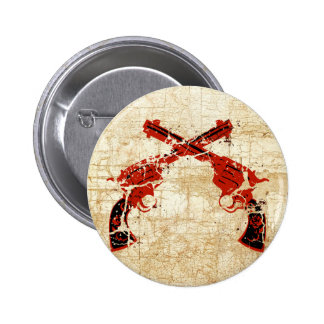 Retro Crossed Pistols Button