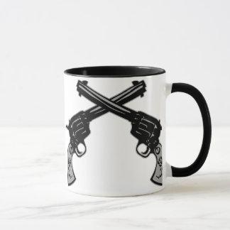 Retro Crossed Pistols Mug