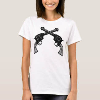 Retro Crossed Pistols T-Shirt
