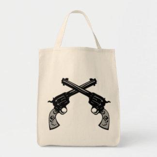 Retro Crossed Pistols Tote Bag