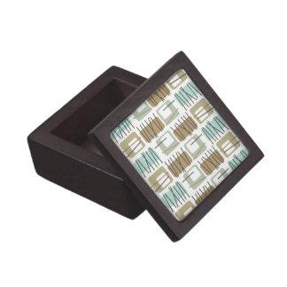 Retro Crosshatch Patterned Jewelry/Trinket Box Premium Gift Box
