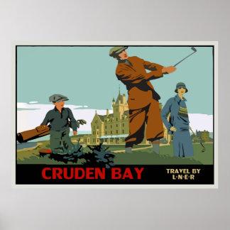 Retro Cruden Bay Scotland Golf Ad Posters