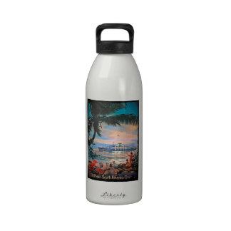 Retro Cruising Caribbean Water Bottle