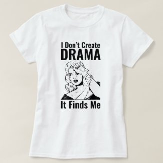 Retro Crying Woman Drama T-Shirt