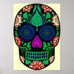 Retro Crystal Skull Poster