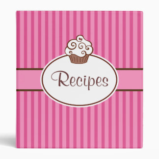 Retro Cupcake Kitchen Recipe Binder Gift