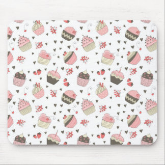 Retro Cupcake Pattern Mouse Pad