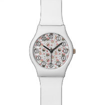 Retro Cupcake Pattern Wristwatch