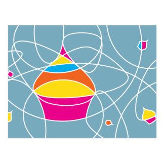 retro CUPCAKE shapes party invitation Postcard