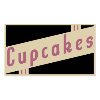 retro cupcakes business cards