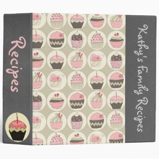 Retro Cupcakes Custom Recipe/Photo Binder