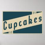 retro cupcakes poster