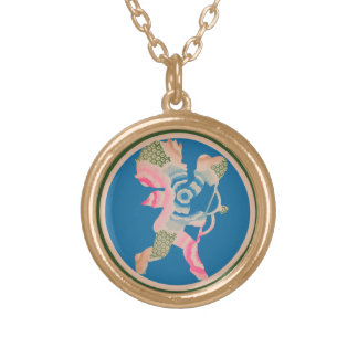 Retro Cupid for Valentines Day Custom Necklace