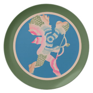 Retro Cupid for Valentines Day Party Plates