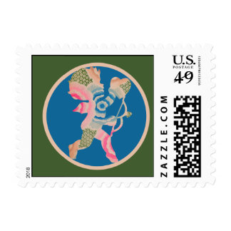 Retro Cupid for Valentines Day Postage Stamps