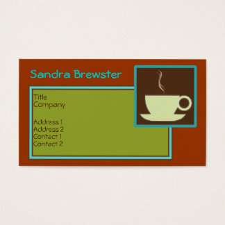 Retro Cuppa Coffee Business Card