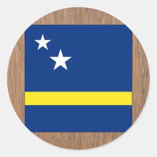 Retro Curacao Flag Classic Round Sticker