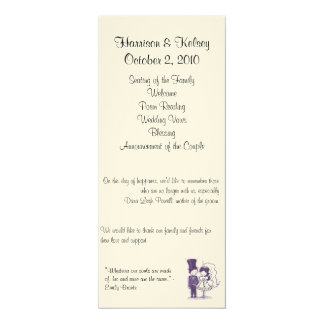 Retro Cursive Wedding Program