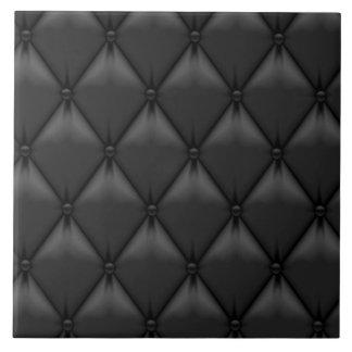 Retro Custom Black Leather Ceramic Tiles