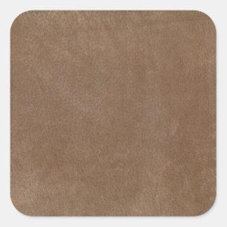 Retro Custom Tan Suede Square Sticker
