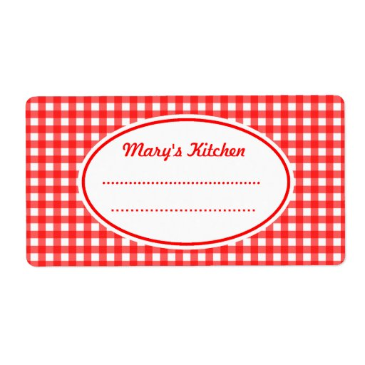 Retro Customized Kitchen Labels
