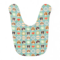 Retro Cute Dog Pattern Bib