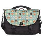 Retro Cute Dog Pattern Laptop Messenger Bag