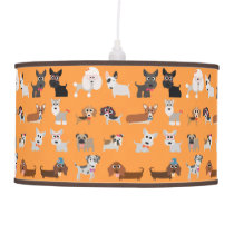 Retro Cute Dog Pattern Pendant Lamp