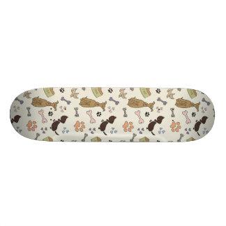 Retro Cute Dog Pattern Skateboard Deck