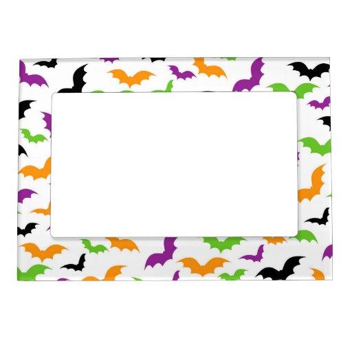 Retro Cute Halloween Bats Frame Magnet