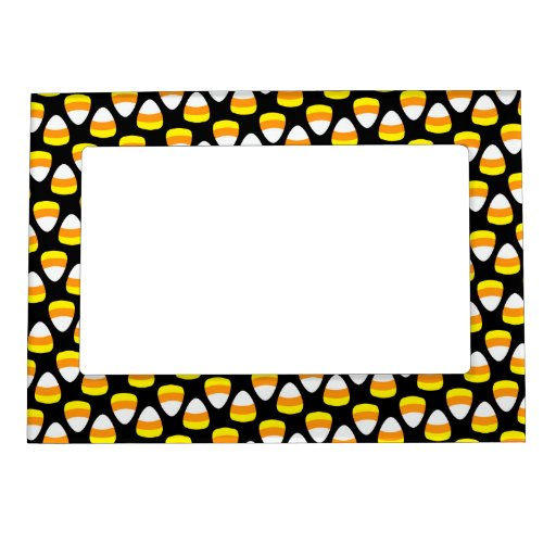Retro Cute Halloween Candy Corn Picture Frame Magnet