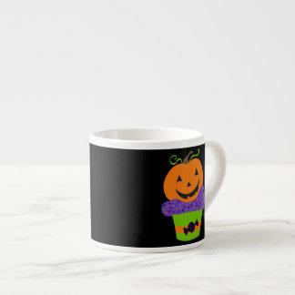 Retro Cute Halloween Pumpkin Cupcake Espresso Cup