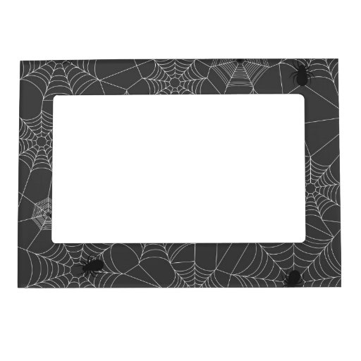 Retro Cute Halloween Spider Pattern Picture Frame Magnet
